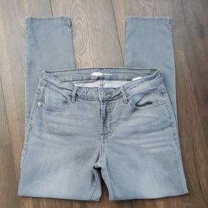 Gray Wash Super Skinny Old Navy Stretch Jeans sz 8